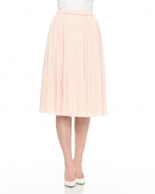 ベージュピンク ジョーゼット ランダムプリーツスカートを見る