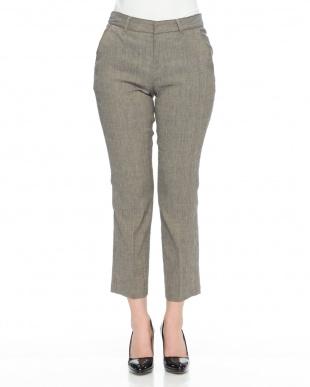 ブラウン系 (股下丈65cm)イタリア素材 リネン混 パンツを見る