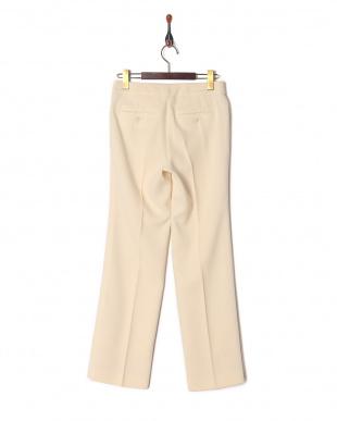 オフホワイト  (股下丈74cm) 「NIKKE」 マフダブルジョーゼット パンツを見る
