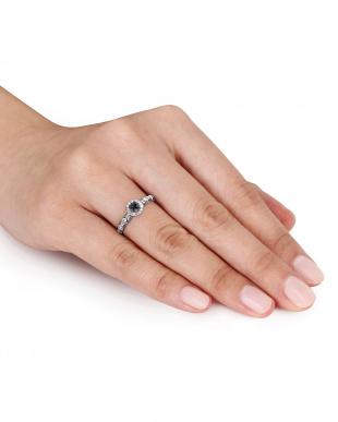 ブラック&ホワイトダイヤモンド(0.25ct)ハローリングを見る