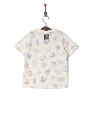 キナリ 裏プリント総柄Tシャツを見る