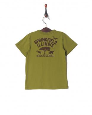 カーキ ステゴサウルスプリントTシャツを見る