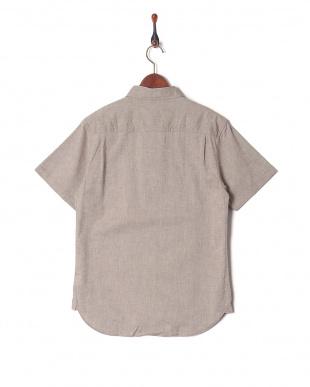 モカ 綿麻ストレッチ半袖シャツを見る
