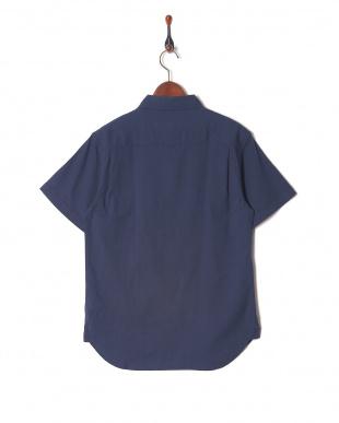 ネービー 綿麻ストレッチ半袖シャツを見る