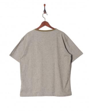 カーキ 綿麻ストレッチTシャツを見る