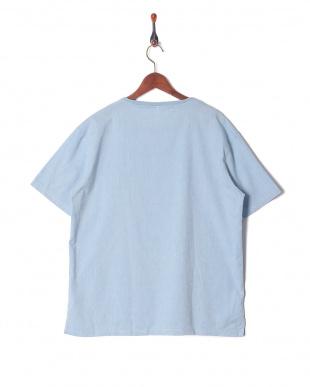 サックス 綿麻ストレッチTシャツを見る