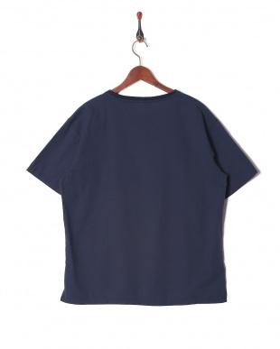 ネービー 綿麻ストレッチTシャツを見る
