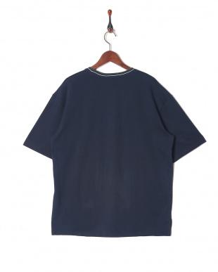 ネービー リブラインTシャツを見る