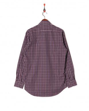 パープル系 ワイシャツ 長袖 標準体 襟型ホリゾンタルワイドを見る
