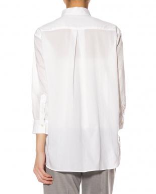 ホワイト テールヘム 七分袖シャツを見る