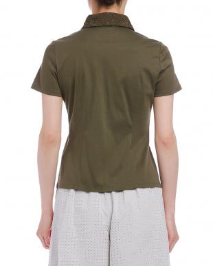 グリーン フラワーレースb 半袖カットソーシャツを見る