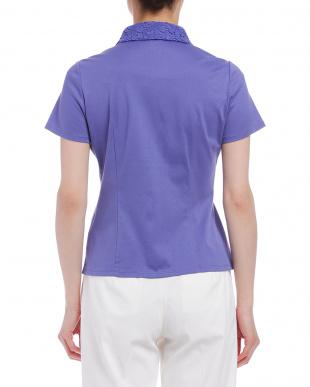 ブルー フラワーレースb 半袖カットソーシャツを見る