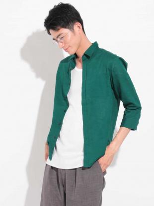 グリーン メンアサナチュラルストレッチシチブソデシャツ[WEB限定サイズ] a.v.v HOMMEを見る