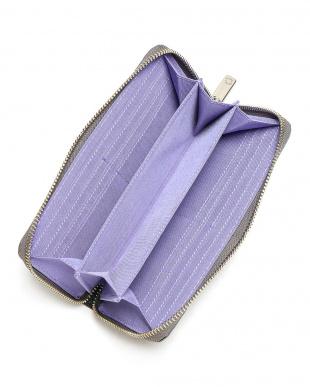 グレー ラウンドファスナー財布を見る