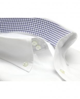 ホワイト系 ワイシャツ 半袖 形態安定 ドゥエボットーニ ボタンダウン 白×ストライプ織柄 3L・4Lを見る