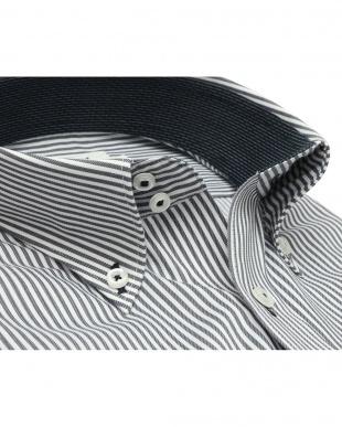 グレー系 ワイシャツ 長袖 形態安定 ドゥエボットーニ ボタンダウン 白×グレーストライプ スリムを見る
