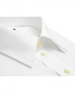 ホワイト系 長袖 ワイシャツ 形態安定 レギュラー 白無地 ブロード 吸汗防汚加工を見る