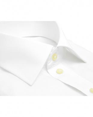 ホワイト系 長袖 ワイシャツ 形態安定 ワイド 白無地 ブロード 吸汗防汚加工を見る