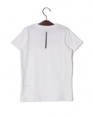 ホワイト プリント クルーネック 半袖Tシャツを見る