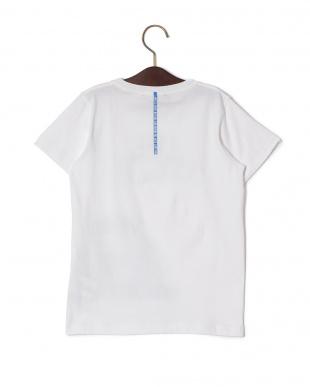 ホワイト ストレッチ プリント クルーネック 半袖Tシャツを見る