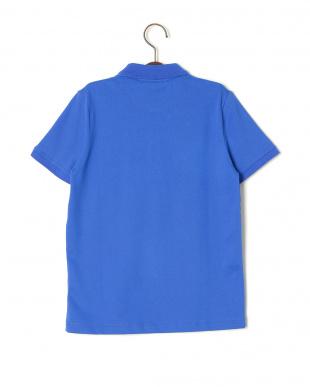 ブルー ワンポイント 半袖ポロシャツを見る