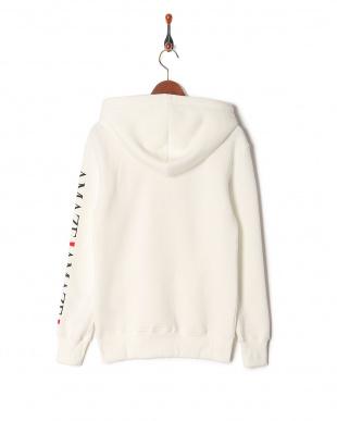 white parody zip hoodieを見る