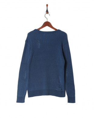 blue denim damage knitを見る