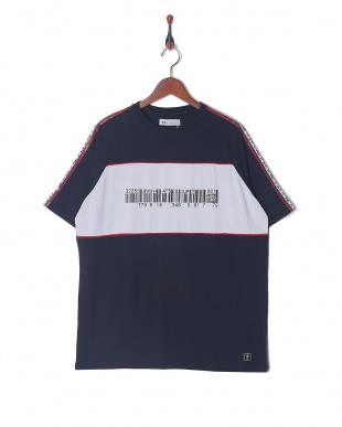 navy Oversize Logoline T-shirtを見る