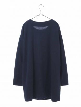 ブルー 【大きいサイズ】裾リボンフリースワンピース eur3を見る