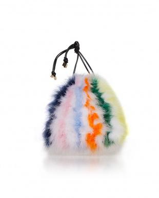 レインボー フェザー巾着バッグ(マルチ)を見る