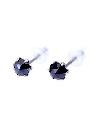 Pt900 ブラックダイヤモンド 計0.5ct ローズカット 6本爪プラチナピアスを見る