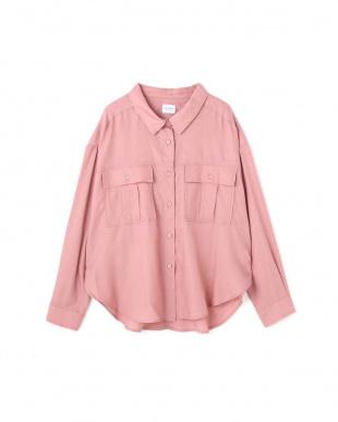 ピンク とろみミリタリーシャツ R/B(オリジナル)を見る