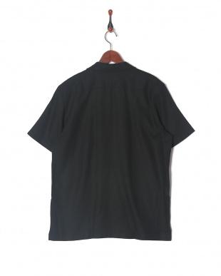 BLACK 麻レーヨン オープンカラーS/Sシャツを見る