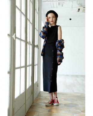 ブラック Tight knit skirtを見る
