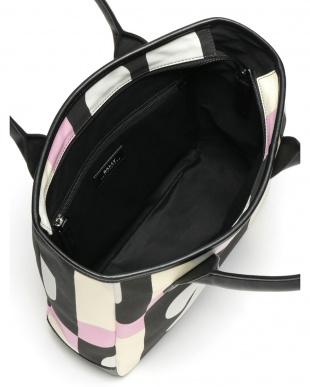 ピンク  プリント トートバッグを見る