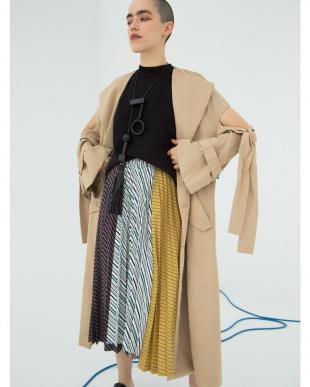ミックス パネルプリーツスカート UN3D.を見る