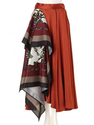 グリーン スカーフドッキングマキシスカート UN3D.を見る