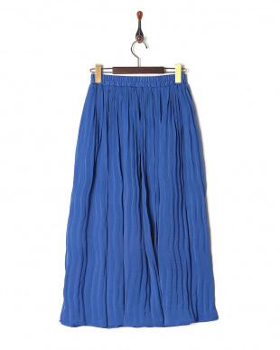 ロイヤルブルー サテンギャザースカートを見る