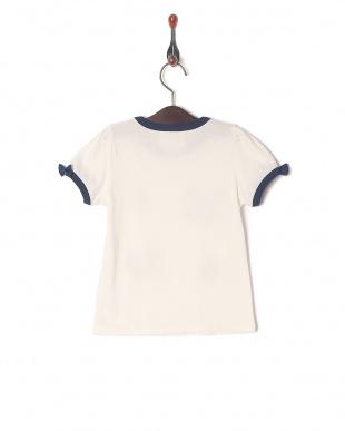 ホワイト×ネイビーレース モチーフTシャツを見る