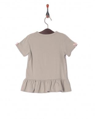 グレー×ピンクリボン リボンTシャツを見る