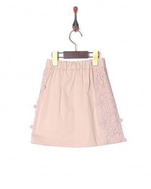 ピンク 脇レーススカートを見る