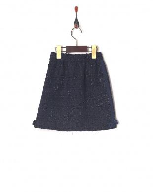 ネイビーツィード ツィードスカートを見る