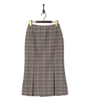 BEIGE チェックマーメイドスカートを見る