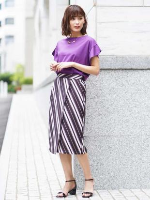 ブラック ストライプラップスカート[WEB限定サイズ] a.v.vを見る