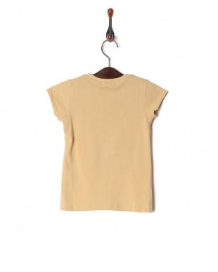 ベージュ フレンチスリーブTシャツを見る