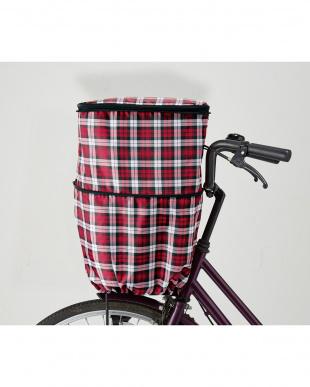 チェックワイン  伸縮式はっ水自転車前カゴカバーを見る
