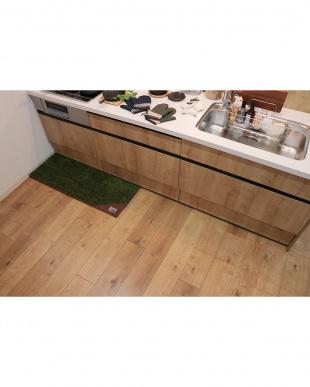 グリーン  ランドミルキッチンマット 45×120cmを見る