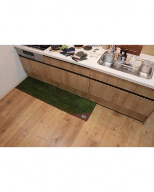 グリーン  ランドミルキッチンマット 45×180cmを見る