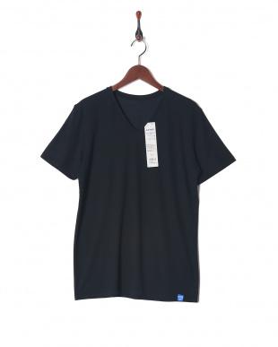 ブラツク×2 VネックTシャツ 2セットを見る