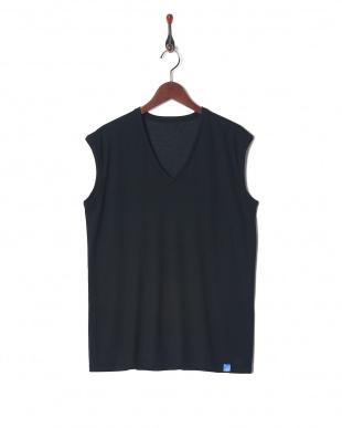 ブラツク×2 Vネックスリーブレスシャツ 2セットを見る